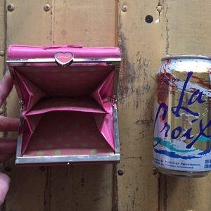 Handbags - LOVECAT PARIS HOT PINK LEATHER WALLET GIRLY